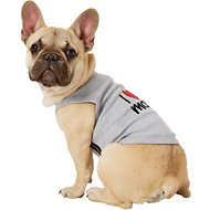 Parisian Pet I Love Mommy Dog T-Shirt, Medium, Gray