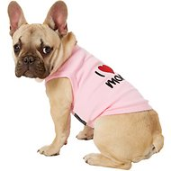 Parisian Pet I Love Mommy Dog & Cat T-Shirt, Pink, Medium