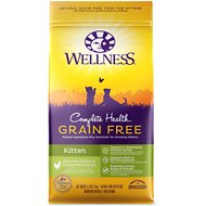 Wellness Complete Health Natural Grain Free Deboned Chicken & Chicken Meal Dry Kitten Food, 5.5-lb bag