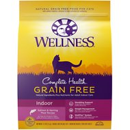 Wellness Complete Health Natural Grain Free Salmon & Herring Dry Cat Food, 11.5-lb bag