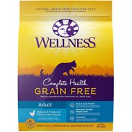 Wellness Complete Health Natural Grain Free Deboned Chicken & Chicken Meal Dry Cat Food, 11.5-lb bag
