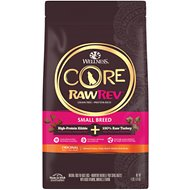 Wellness CORE RawRev Natural Grain Free Original Turkey & Chicken with Freeze Dried Turkey Small Breed Dry Dog Food, 4-lb bag