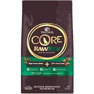 Wellness CORE RawRev Natural Grain Free Wild Game Duck, Lamb, Wild Boar & Rabbit with Freeze Dried Lamb Dry Dog Food, 4-lb bag