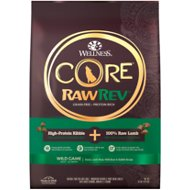 Wellness CORE RawRev Natural Grain Free Wild Game Duck, Lamb, Wild Boar & Rabbit with Freeze Dried Lamb Dry Dog Food, 10-lb bag