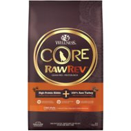 Wellness CORE RawRev Natural Grain Free Original Turkey & Chicken with Freeze Dried Turkey Dry Dog Food, 20-lb bag