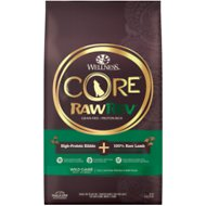 Wellness CORE RawRev Natural Grain Free Wild Game Duck, Lamb, Wild Boar & Rabbit with Freeze Dried Lamb Dry Dog Food, 18-lb bag