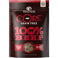 Wellness CORE Grain Free 100% Beef Freeze Dried Raw Dog Treats, 2-oz bag