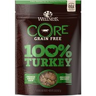 Wellness CORE Grain Free 100% Turkey Freeze Dried Raw Dog Treats, 2-oz bag
