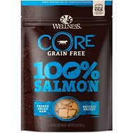 Wellness CORE Grain Free 100% Salmon Freeze Dried Raw Dog Treats, 2-oz bag
