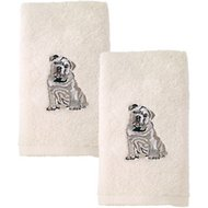 Avanti Linens Dog 2-Pack Hand Towel, Bulldog