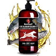 Pure Paw Nutrition Dog, Cat & Small Animal Wild Alaskan Salmon Oil, 32-oz bottle