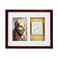 Pearhead Pawprints Dog & Cat Wall Frame and Impression Kit, Espresso