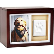 Pearhead Pawprints Dog & Cat Memory Box and Impression Kit, Espresso