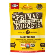 Primal Rabbit Formula Nuggets Grain-Free Raw Freeze-Dried Dog Food, 5.5-oz