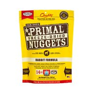 Primal Rabbit Formula Nuggets Grain-Free Raw Freeze-Dried Dog Food, 14-oz