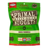 Primal Duck Formula Nuggets Grain-Free Raw Freeze-Dried Cat Food, 5.5-oz