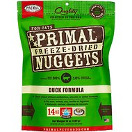 Primal Duck Formula Nuggets Grain-Free Raw Freeze-Dried Cat Food, 14-oz