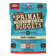 Primal Rabbit Formula Nuggets Grain-Free Freeze-Dried Cat Food, 5.5-oz