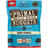 Primal Rabbit Formula Nuggets Grain-Free Raw Freeze-Dried Cat Food, 14-oz