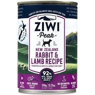 Ziwi Peak Rabbit & Lamb Recipe Canned Dog Food, 13.75-oz, case of 12