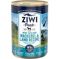 Ziwi Peak Mackerel & Lamb Recipe Canned Dog Food, 13.75-oz, case of 12