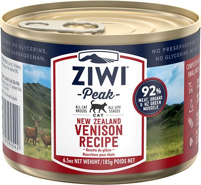 1. Ziwipeak Venison Recipe Canned Cat Food
