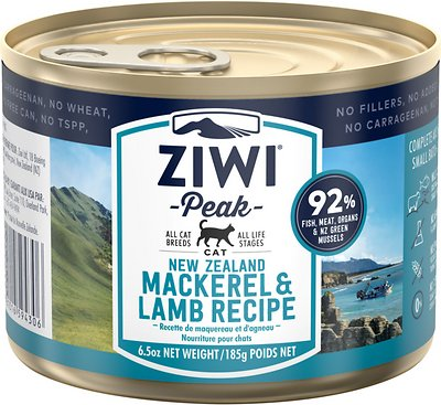 3. Ziwipeak Mackerel and Lamb Canned Cat Food