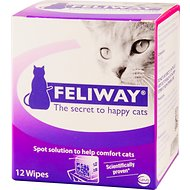 Feliway Calming Travel Cat Wipes, 12 count box