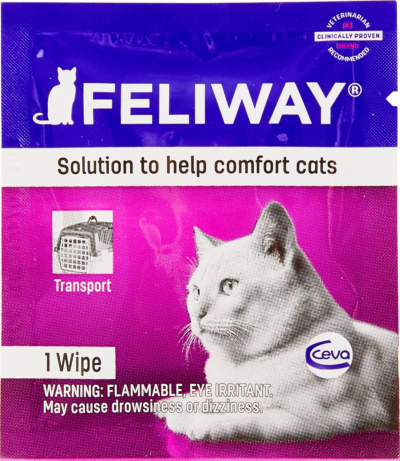 Feliway Calming Travel Cat Wipes 12 Count Box Chewy Com