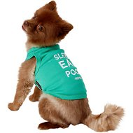 Parisian Pet Sleep Eat Poop Dog T-Shirt, Medium