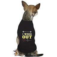 Parisian Pet I Work Out Dog & Cat T-Shirt, Medium