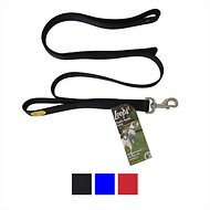 Loops 2 Double Handle Dog Leash, Black