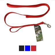 Loops 2 Double Handle Dog Leash, Red
