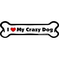 "Imagine This Company ""I Love My Crazy Dog"" Magnet, Bone Shape"
