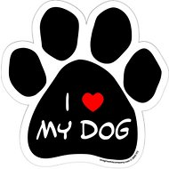"Imagine This Company ""I Love My Dog"" Magnet, Paw Shape"