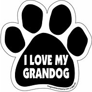 "Imagine This Company ""I Love My Grandog"" Magnet, Paw Shape"