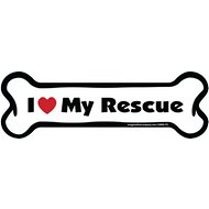 "Imagine This Company ""I Love My Rescue"" Magnet, Bone Shape"