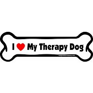 "Imagine This Company ""I Love My Therapy Dog"" Magnet, Bone Shape"