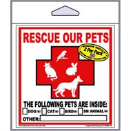 "Imagine This Company ""Rescue Our Pets"" Decal, 2 count"