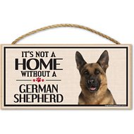 "Imagine This Company ""It's Not a Home Without"" Wood Breed Sign, German Shepherd"