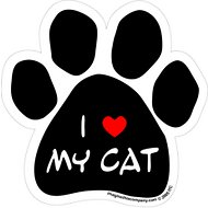 "Imagine This Company ""I Love My Cat"" Magnet, Paw Shape"