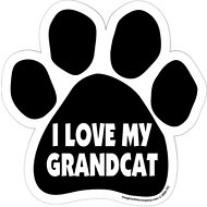"Imagine This Company ""I Love My GrandCat"" Magnet, Paw Shape"