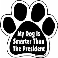 "Imagine This Company  ""My Dog Is Smarter"" Magnet, Paw Shape"
