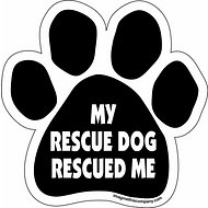"Imagine This Company ""My Rescue Rescued Me"" Magnet, Paw Shape"