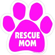 "Imagine This Company ""Rescue Mom"" Magnet, Paw Shape"