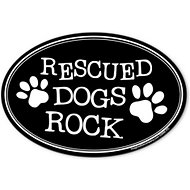 "Imagine This Company ""Rescued Dogs Rock"" Magnet, Oval Shape"