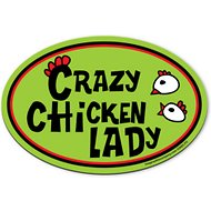 "Imagine This Company ""Crazy Chicken Lady"" Magnet, Oval Shape"