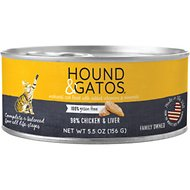 Hound & Gatos Chicken & Chicken Liver Formula Grain-Free Canned Cat Food, 5.5-oz, case of 24
