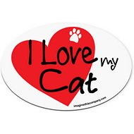 "Imagine This Company ""I Love My Cat"" Heart Magnet, Oval Shape"