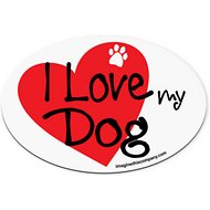 "Imagine This Company ""I Love My Dog"" Heart Magnet, Oval Shape"